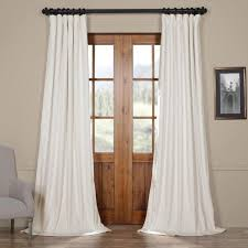 Exclusive Curtain Fabrics Designs Exclusive Fabrics Signature White Velvet Blackout Curtain