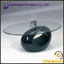 Oval Glass Top Coffee Table New Idea Products Egg Shaped Oval Glass Top Coffee Table In Black