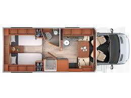 Class B Motorhome Floor Plans by 2018 Leisure Travel Van Mercedes Diesel Unity Tb Twin Bed B Van
