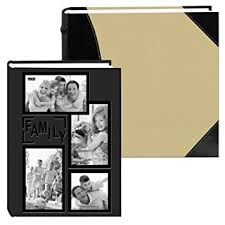 High Capacity Photo Albums Pioneer Collage Frame Embossed Family Sewn Leatherette Cover 300