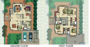 Spanish Floor Plans Victory Heights Floor Plans Dubai Sports City Villa Types Fine