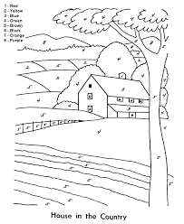 Color By Number Coloring Page Easy Beginner Follow The Color The Coloring Pages