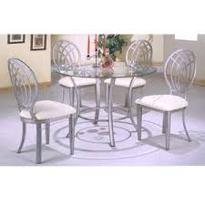 Silver Dining Chairs 5 Pc Antique Silver Gray Dining Set 7431 7432 Cb42rd Co
