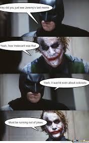 Funny Batman Meme - joker and batman by aly15p meme center