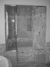 Wonderful Shower Stall Design Wall Mixed With Glass Panel For Tiny - Bathroom shower stall tile designs
