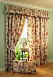 Decorative Traverse Dry Rods Decorative by Floral Bay Window Curtains On The Green Wall With Wooden Floor Can