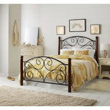 Country Style Headboards by Full Size Bed Frame Headboard Footboard Steel Frame Bedroom Decor
