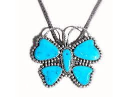 blue turquoise pendant necklace images Butterfly turquoise pendant handmade by dianne lonjose jpg