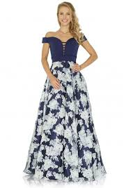 jora collection collection bardot floral dress in navy