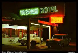 Classic Motel Picture Photo Motel With Classic American Cars Holbrook Arizona