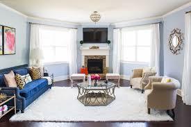 design story a bright bold u0026 glam living room havenly