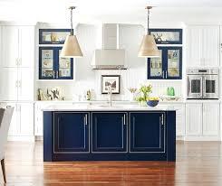Antique White Kitchen Cabinets Custom White Kitchen Cabinets White Kitchen With A Custom Blue