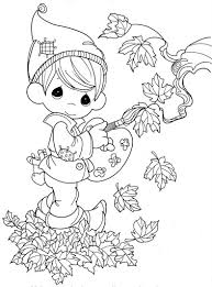 fall autumn coloring pages precious moments coloring pages