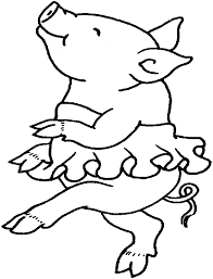 clipart pigs easter coloring pages clip art library