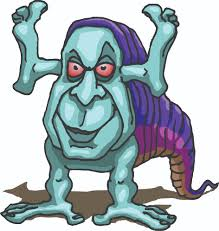 creepy clipart scary monster cartoon free download clip art free clip art
