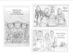 sketches for a corporate greeting card achillesportfolio