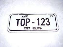 Maine Vanity License Plates Maine License Plate Ebay