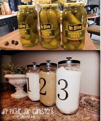 Canisters For The Kitchen 10 Great Ideas For Upgrade The Kitchen 2 Pickle Jars Jar