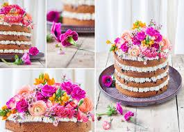 hochzeitstorte selber backen rezepte torte mit blumen hochzeitstorte mit echten blumen dekorieren