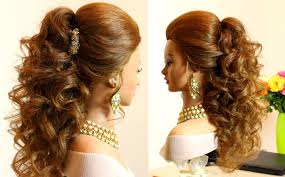 pics of bridal hairstyle curly bridal hairstyle for long hair tutorial youtube