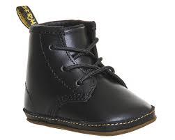 dr martens auburn crib booties black leather unisex