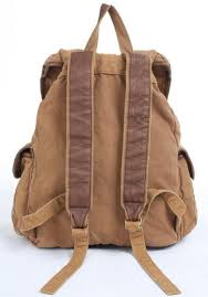 Rugged Backpacks High Quality Brown Fabric Canvas Backpack Serbags