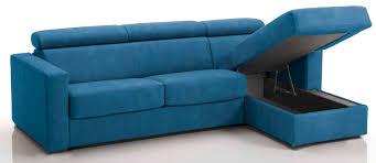 canap bleu convertible canapé d angle convertible avec têtières revêtement microfibre bleu