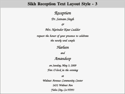 Sikh Wedding Cards Wording Wedding And Reception Invitation Wording Vertabox Com
