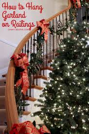 What Is A Banister On Stairs How To Hang Garland On Staircase Banisters Oh My Creative