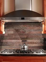 Subway Kitchen Backsplash Elegant Kitchen Decor With Slate Copper Subway Tile Backsplash