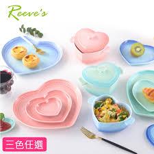 thermom鑼re laser cuisine 韓國reeves維思 北歐fika新骨瓷心形碗盤超值組 9盤組 6盤1碗1蓋 3盤2碗2