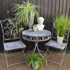 Grey Bistro Table Grey Bistro Set Audenza