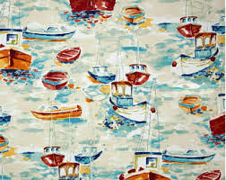 Fishing Bathroom Decor by Nautical Shower Curtain Fabric Boat Oars Blue Grey Gray White