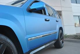 metallic blue jeep matte blue metallic jeep grand cherokee color change wrap car