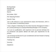 sample marketing cover letter template 9 download free documents