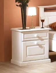 Schlafzimmerschrank Pinie Massiv Schlafzimmer Neapel Pinie Weiß Bett 180x200 Nachttisch