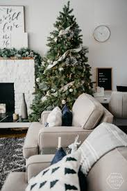 our holiday living room hello holiday lemon thistle