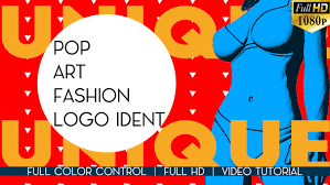 pop art fashion logo ident abstract after effects templates f5