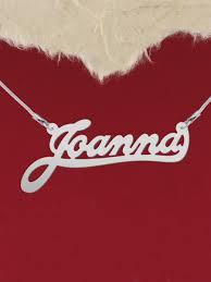 custom name jewelry 925 silver name necklace joanna custom name by silverbgltd on zibbet