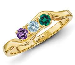 6 mothers ring 14k solid gold s ring 1 to 6 birthstones family