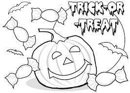 trick or treat halloween coloring pages printable for preschoolers