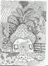 coloring pages for adults look whose peeking inside the tree