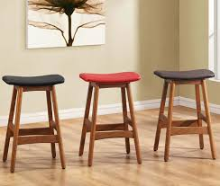 kitchen bar stools backless inimitable wood counter stools backless with leather seat cover