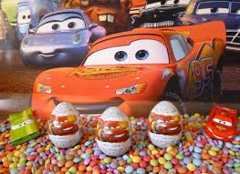 3 cars 2 kinder surprise eggs disney pixar lightning mcqueen mater