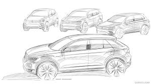 volkswagen drawing 2018 volkswagen t roc design sketch hd wallpaper 40
