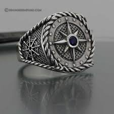 custom rings for men buy a made compass ring nautical ring made to order from