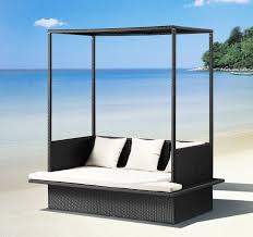 exterior dazzling outdoor lounge bed in beach with black wicker exterior dazzling outdoor lounge bed in beach with black wicker floating bed and square white