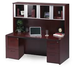 Cherry Wood Desk With Hutch Ct16cry Cherry Wood Desk With Hutch By Mayline