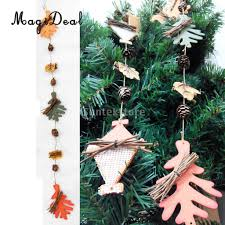 online shop magideal christmas tree hanging craft pine cone wood