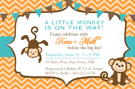 How To Make Baby Shower Invitation Cards Baby Shower Invitations Surprising Monkey Baby Shower Invitations